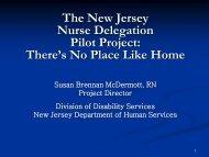 The new jersey nurse delegation pilot project - National Association ...