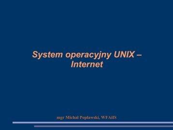 System operacyjny UNIX – Internet