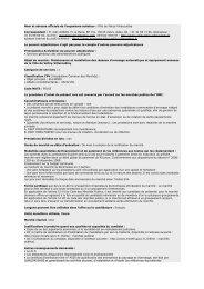 Nom et adresse officiels de l'organisme acheteur - Vélizy-Villacoublay