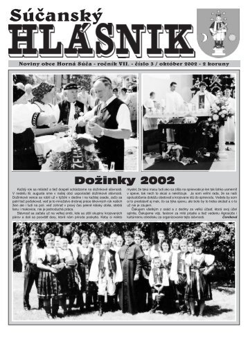 Súčanský hlásnik 2002 číslo 3 (pdf) - Horná Súča
