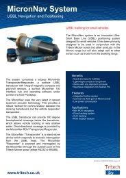 MicronNav System - USBL Navigation and Positioning - Tritech