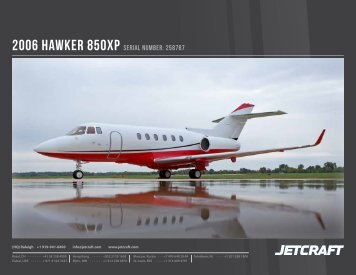 2006 Hawker 850XP Serial Number: 258787 - Business Air Today