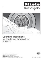 Operating instructions for condenser tumble dryer T 230 C