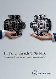 Mercedes-Benz Original-Tauschteile für Pkw, Transporter und Lkw