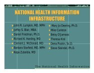 NATIONAL HEALTH INFORMATION INFRASTRUCTURE ...