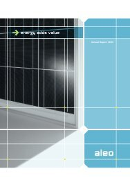 Annual Report 2009 - Aleo Solar