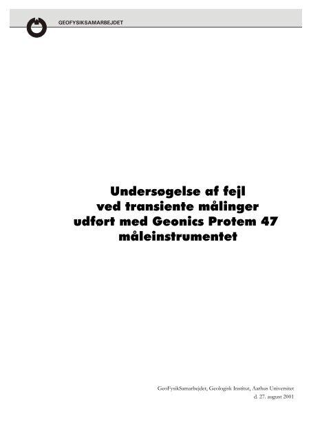 Undersøgelse af fejl ved transiente målinger udført med - Aarhus ...