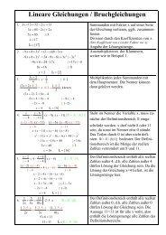 Lineare Gleichungen / Bruchgleichungen