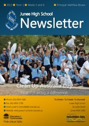No 3 Newsletter March 2013 - Junee High School