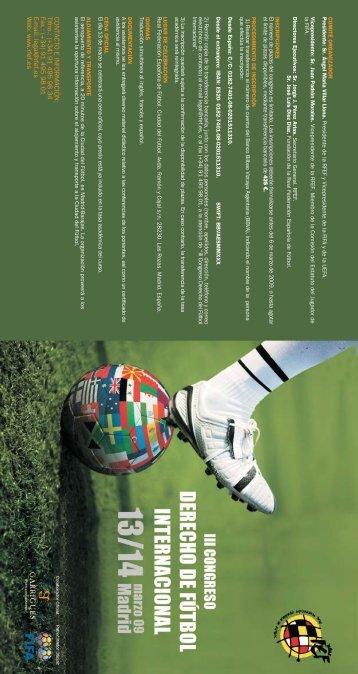 III Congreso Derecho del Fútbol Internacional