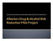 DARRPP Co. Rollout - Construction Owners Association of Alberta