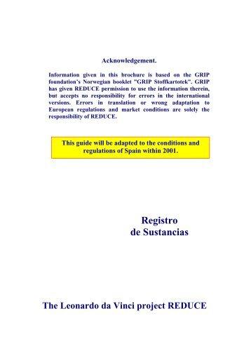 Substance Register - Spanish Version - Reduce