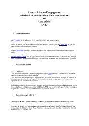 Annexe à l'acte d'engagement relative à la présentation d'un sous ...