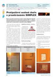 Protipožární ocelové dveře s provětráváním SIMPLEX