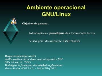 Conhecimentos básicos - Laboratório Associado de Computação e ...