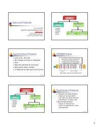 Data Link Protocols Asynchronous Protocols XMODEM frame ...