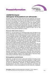 Presseinformation - KOSMETIK international
