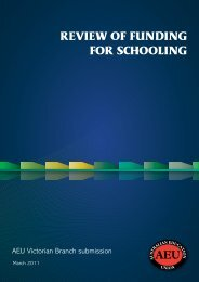 Federal School Funding Review submission - Australian Education ...