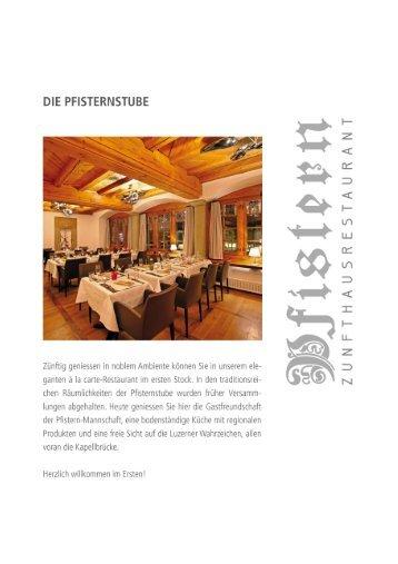 Speisekarte (PDF) - Zunfthausrestaurant Pfistern