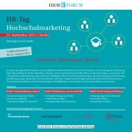 HR-Tag Hochschulmarketing - HRM-Forum