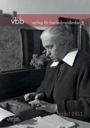 Herbst 2011 [pdf] - Verlag für Berlin und Brandenburg