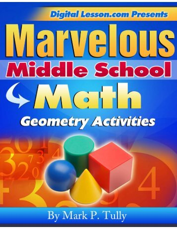 Geometry Activities eBook Preview Pages - DigitalLesson.com