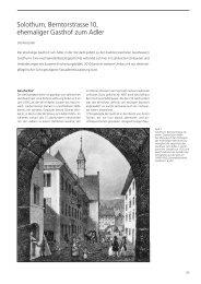 12 Solothurn Ehem. Gasthof Adler - Kanton Solothurn