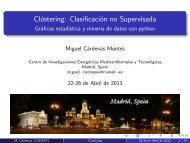 Clústering: Clasificación no Supervisada - Gráficas estadística y ...