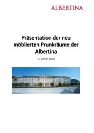 Press Release (Language: German) - Albertina