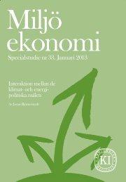 Interaktion mellan de klimat- och energipolitiska målen