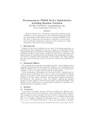 Proceedings (PDF) - Stanford Technology CAD Home Page
