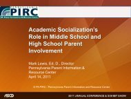 Academic Socialization - Center for Schools and Communities