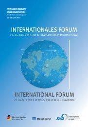 INTERNATIONALES FORUM INTERNATIONAL ... - Wasser Berlin