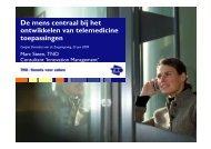 De mens centraal bij het ontwikkelen van telemedicine ... - Marc Steen