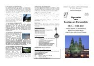 Pilgerreise nach Santiago de Compostela 15.09. - St. Marien ...