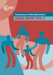 2010-11 Commissioner for Public Administration Annual Report