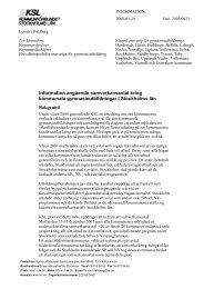 Information angående samverkansavtal kring kommunala ...