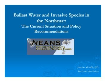 Ballast Water and Invasive Species in Ballast Water and Invasive