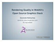 Rendering Quality in WebKit's Open Source Graphics Stack