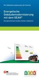 Energetische Gebäudemodernisierung mit dem GEAK® - Energie ...