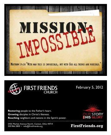 February 5, 2012 - First Friends Church