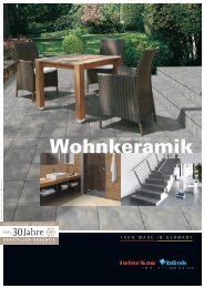 Wohnkeramik - Interbau Blink