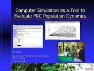 Simulation modeling as a tool to evaluate FRC population ... - NIMBioS