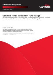 Gartmore Pacific Opportunities Fund - Alliance Trust