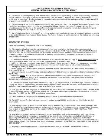DD Form 2807-2 - STATES
