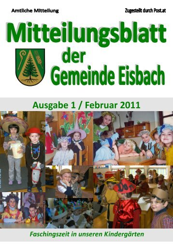 Ausgabe 1 / Februar 2011 - Gemeinde Eisbach
