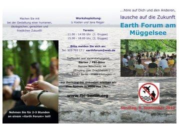 Earth Forum am Müggelsee - FBI-Berlin.org