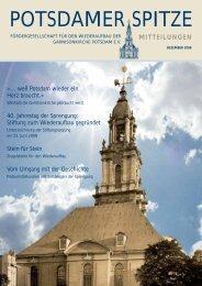 POTSDAMER SPITZE - Wiederaufbau der Garnisonkirche Potsdam