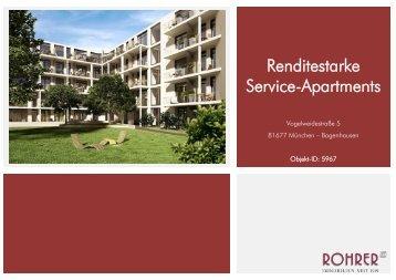 Renditestarke Service-Apartments - Rohrer Immobilien