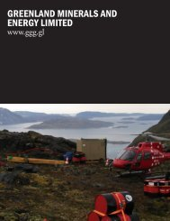 greenland minerals and energy limited - The International Resource ...